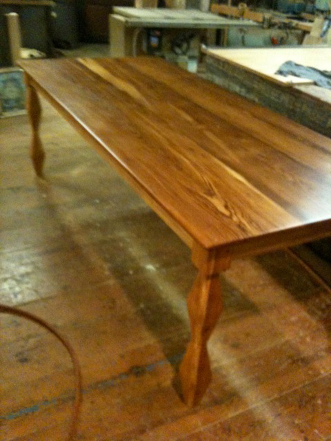 made from virgin long leaf red pine reclaimed from new orleans barges made of wood from the civil warperiod
